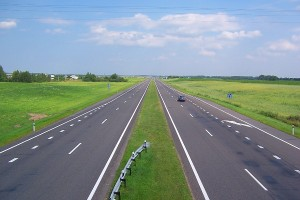 """A motorway in Belarus is the site of a strange """"attraction"""""""