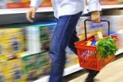 Man shopping with basket
