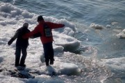 Children on ice floe