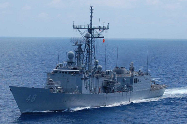 The USS Vandegrift, whose captain has recently been relieved of his command.