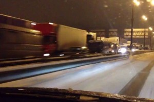 Moscow Ring Road at a standstill