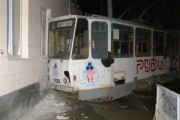 Tram in Lviv comes off rails after being stolen