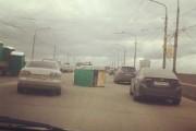 Portaloo on the road in Krasnoyarsk
