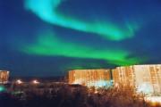 Clouds glow over Chelyabinsk