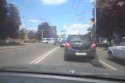 Policeman gets asphalt stuck to his car