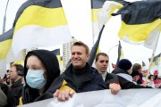 Alexei Navalny at a march