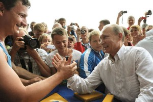Putin armwrestling