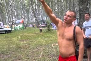 Man shows impressive kicking ability
