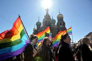 Gay parade in Russia